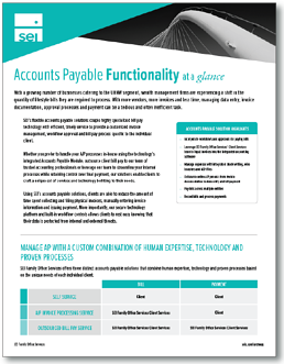 SEI Archway Accounts Payable Functionality Overview