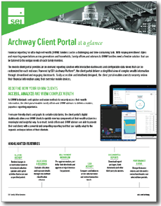 SEI Archway Client Portal Solution Overview