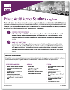 SEI Archway Private Wealth Advisor Solution Overview